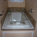 Biscuit Kara Soaking Tub with Overflow Rim